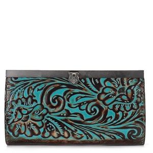 PatriciaNash Cauchy Turquoise leather wallet